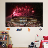 New York Mets Citi Field Fireworks Mural Wall Decal