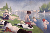 Bathers at Asnieres Wall Decal by Georges Seurat