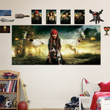 Pirates of the Caribbean Mural Decal Sticker Malowidło ścienne