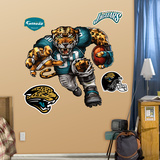 Jacksonville Jaguars Die Cut RB Liquid Blue Wall Decal