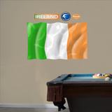 Ireland Flag - logo sized   Wall Decal