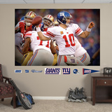 Eli Manning Pocket Presence Mural Wall Decal