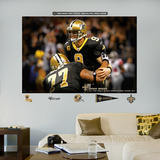 Drew Brees Passing Record Mural Wall Decal
