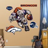 Denver Broncos Die Cut RB Liquid Blue Wall Decal