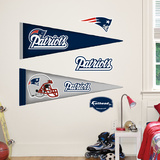 New England Patriots NFL Pennant Wall Decal