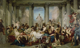 The Romans of the Decadence Wall Decal by Thomas Couture