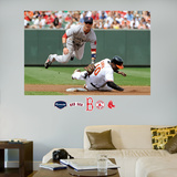 Dustin Pedroia Turn2 Mural Wall Decal