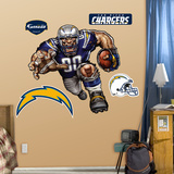 San Diego Chargers Die Cut RB Liquid Blue Wall Decal