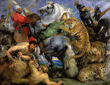 The Tiger Hunt Wall Decal by Peter Paul Rubens