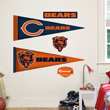 Chicago Bears NFL Pennant Wall Decal