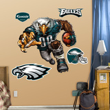 Philadelphia Eagles Die Cut RB Liquid Blue Wall Decal