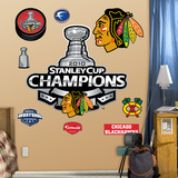 Chicago Blackhawks 2010 Champions Logo Wall Decal