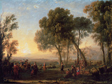 Landscape with a Country Dance Wall Decal by Claude Lorrain