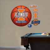 University of Illinois Basketball Logo   Wall Decal