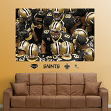 Saints Huddle Mural Wall Decal