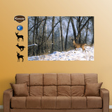 Deer in the Woods Mural Wall Decal