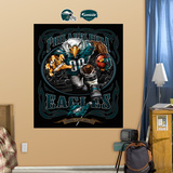 Philadelphia Eagles Liquid Blue Wall Decal