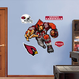 Arizona Cardinals Die Cut RB Liquid Blue Wall Decal