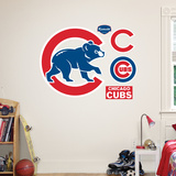 Chicago Cubs Alternate Logo Muursticker