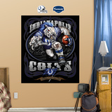 Indianapolis Colts Liquid Blue Wall Decal