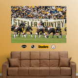 Steelers-Browns Steeler Country Mural Wall Decal