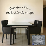 Brush Letters Wall Decal