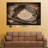 Old Yankee Stadium Historic Aerial Mural   Wall Decal
