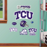 Texas Christian Jr. Logosheet Wall Decal