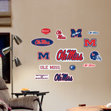 Mississippi Jr. Logosheet Wall Decal