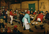 Peasant Wedding Wall Decal by Pieter Bruegel