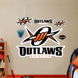 Denver Outlaws Logo   Wall Decal
