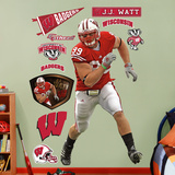 J.J. Watt Wisconsin   Wall Decal