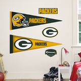 Green Bay Packers NFL Pennant Wall Decal