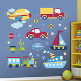 Vehicles Collection Wall Decal