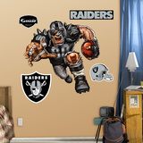 Oakland Raiders Die Cut RB Liquid Blue Wall Decal