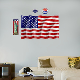 US Flag - logo sized   Wall Decal