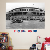 Chicago Cubs Wrigley Field Historical Exterior Stadium Mural wandtattoos