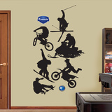 Extreme Sports Silhouettes Wall Decal