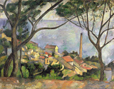 The Sea at l'Estaque Wall Decal by Paul Cézanne