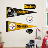 Pittsburgh Steelers NFL Pennant Wall Decal