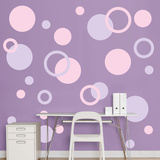 Lavender &amp; Pink Polka Dots Wall Decal