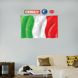 Italy Flag - logo sized   Wall Decal