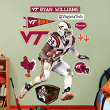 Ryan Williams Virginia Tech Wall Decal
