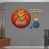 West Virginia University Basketball Logo   Wall Decal