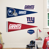 New York Giants NFL Pennant Wall Decal