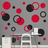 Black & Red Polka Dots Wall Decal