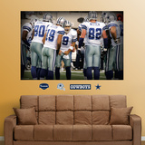Cowboys Huddle Mural Wall Decal