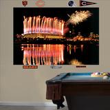 Bears Soldier Field Fireworks Mural Wall Mural