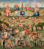 The Garden of Earthly Delights: Allegory of Luxury Autocollant mural par Hieronymus Bosch