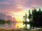 Yosemite Valley Wall Decal by Albert Bierstadt